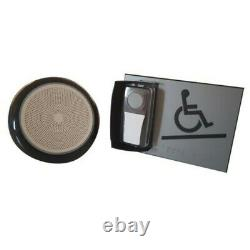 Kit carillon d'appel pour rampe d'accès mobile en relief gris avec braille