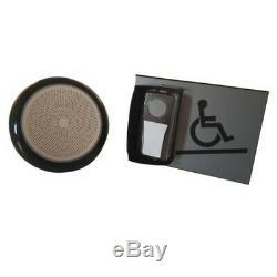 Kit carillon d'appel pour rampe d'accès mobile en relief gris sans braille