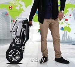 Léger Électrique Chaise Roulante Pliable puissance Mobilité Char Roue Chaise