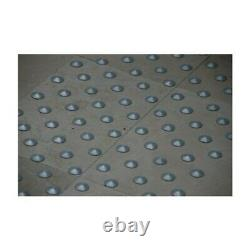 Lot de 150 plots podotactiles avec adhésif épais Aluminium anodisé rainuré Ø 2