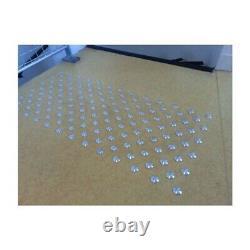 Lot de 150 plots podotactiles avec adhésif épais Aluminium brut lisse Ø 25 mm