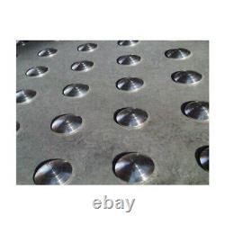 Lot de 150 plots podotactiles avec adhésif épais Aluminium brut rainuré Ø 25 m