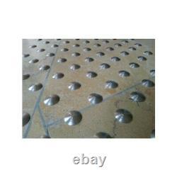 Lot de 150 plots podotactiles avec adhésif épais Inox lisse Ø 25 mm