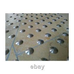 Lot de 150 plots podotactiles avec adhésif épais Inox rainuré Ø 25 mm