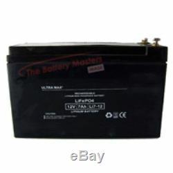 Lot de 4 12V 7AH (Conforme 8AH &10ah) LI-ION 12V 7Ah Batterie Scooter