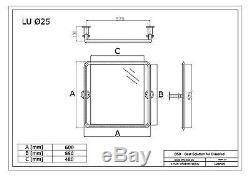 Miroir réglable, acier inoxydable, Ø25 mm