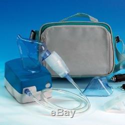 Mobile Privé Inhalateur Enfants + les Adultes, avec Kfz Adaptateur, Utilisable