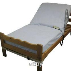 NRS Dossier de lit électrique Blanc 610 à 1525 mm