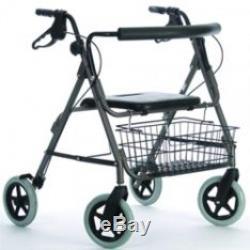 NRS Healthcare Mobility Care Déambulateur Rollator très résistant Titane