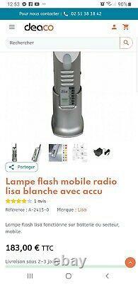 Neuf Humantechnik Lisa Lampe flash blanche mobile radio avec accu A-2415-0