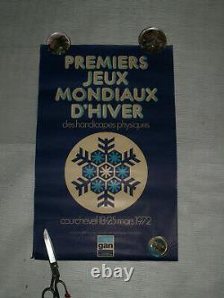 PREMIER JEUX MONDIAUX D HIVER des HANDICAPES PHYSIQUES COURCHEVEL GAN 1972