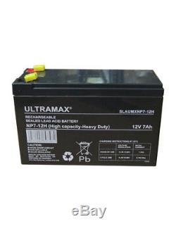 Paquet de 4 12V 7Ah Résistant Rechargeable SLA Batteries