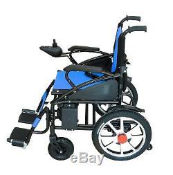 Pliable Roulant Électrique Léger Robuste Durable Powerchair Bleu