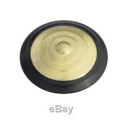 Plots podotactiles PODOKIT laiton pourtour polymère noir auto-adhésifs en 4 plaq