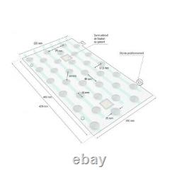 Plots podotactiles PODOKIT mixte thermoplastiques et inox auto-adhésifs en 4 pla