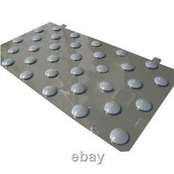 Plots podotactiles PODOKIT thermoplastiques gris auto-adhésifs en 4 plaques