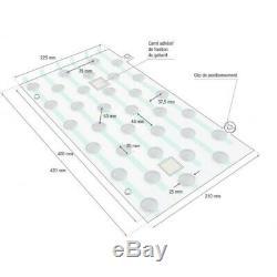 Plots podotactiles PODOKIT thermoplastiques noir auto-adhésifs en 4 plaques
