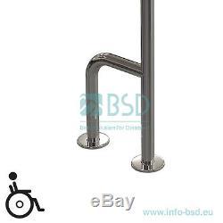 Poignée de sécurité à monter au sol et, acier inoxydable, Ø32mm