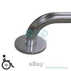 Poignée de sécurité main courante, longeur 110-200 cm, acier inoxydable, Ø32 mm