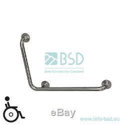 Poignée de sécurité pour douche coudée 90 degrés, acier inoxydable, Ø32 mm