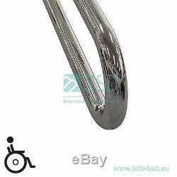 Poignée de sécurité pour lavabo avec les trois fixations, acier inoxydable, Ø32