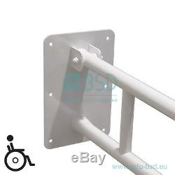 Poignée de sécurité pour lavabo rabattable Ø32 mm avec pied, blanche