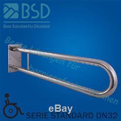 Poignée de sécurité rabattable Ø32 mm, acier inoxydable