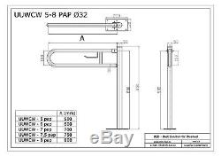 Poignée de sécurité rabattable avec porte-papier, Ø32 mm, acier inoxydable