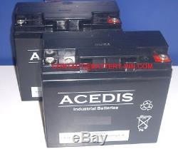 Praticomfort ULECR 2x Batteries 12v 18Ah Scooter de Mobilité