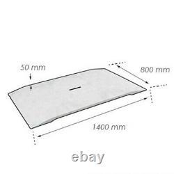 Rampe chantier haute résistance avec main courante simple 1400 x 800 x 50 mm