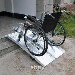 Rampe pour fauteuil roulant 122 cm 270kg 2x Pliable Alu Handicapés Véhicule