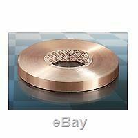 Ruban cuivre isolé 18x0.3 mm 5,4 mm2 rouleau de 50 m Neuf