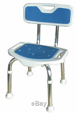 SIEGE DE DOUCHE BLUE SEAT avec dossier réglable en hauteur et anti-dérapant