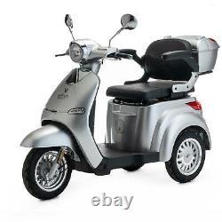 Scooter Électrique 3 Roues Senior/Pour Handicapés 1000W VELECO CRISTAL ARGENT