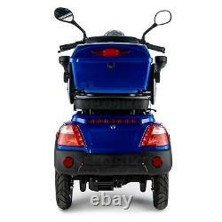 Scooter Électrique 4 Roues Senior/Pour Handicapés 1000W VELECO FASTER BLEU