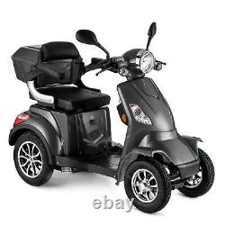 Scooter Électrique 4 Roues Senior/Pour Handicapés 1000W VELECO FASTER GRIS