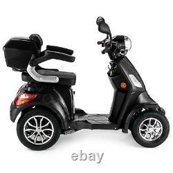 Scooter Électrique 4 Roues Senior/Pour Handicapés 1000W VELECO FASTER NOIR