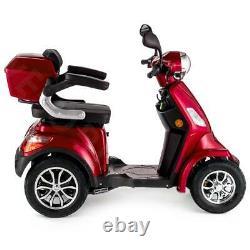 Scooter Électrique 4 Roues Senior/Pour Handicapés 1000W VELECO FASTER ROUGE