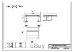 Siège relevable pour douche renforcé, acier inoxydable, Ø25 mm