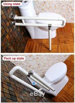 Signstek Barre d'Appui Relevable pour WC, Facilité les Personnes Agés et infirme
