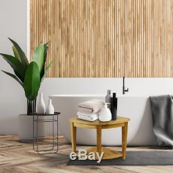 Tabouret de salle de bain de coin avec étagère 45 x 50 x 45 cm bois de teck