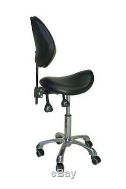 Tabouret ergonomique prestige selle de cheval taille 55-75 cm couleur noir