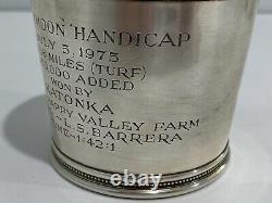 Tiffany & Co Argent Sterling Hollywood Parc Turf Club Honeymoon Handicap Trophy