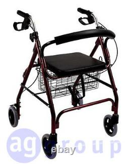 Trotteur Déambulateur Pliant 2 Roues Pivotantes Pour Personnes gées Handicapés