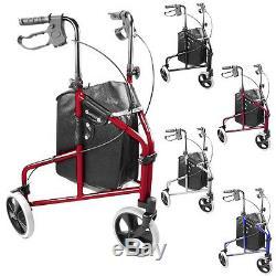 Ultra Léger pli 3 roues tri walker aide à la mobilité à roues marche cadre